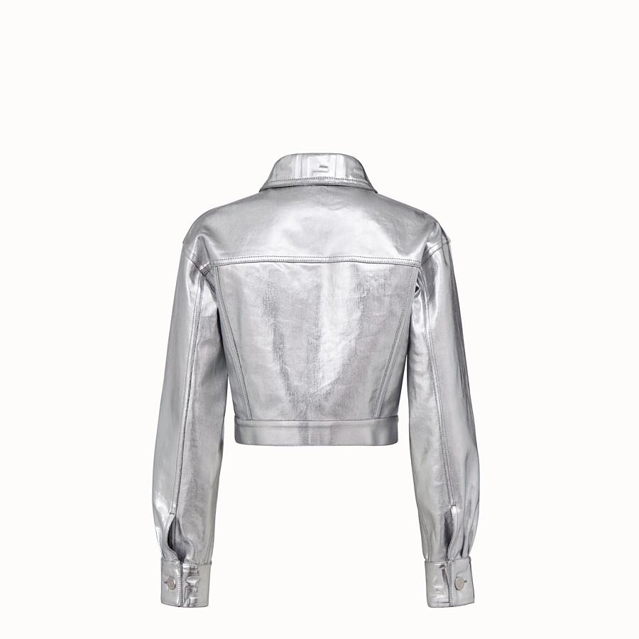 FENDI JACKET - Silver denim jacket - view 2 detail