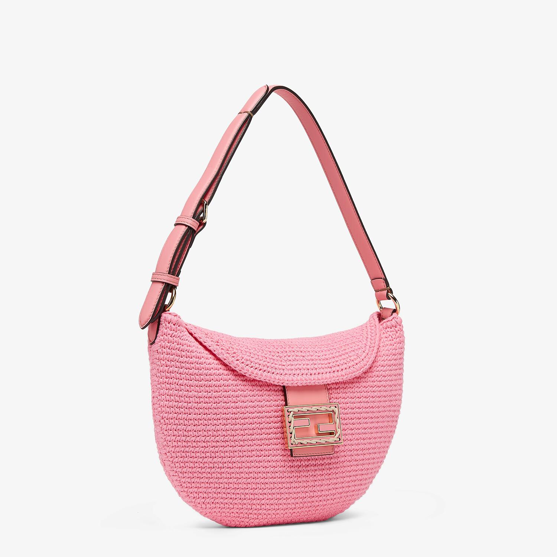 FENDI SMALL CROISSANT - Pink cotton bag - view 2 detail