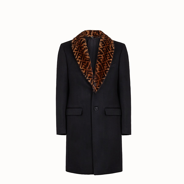FENDI COAT - Black cashmere coat - view 1 small thumbnail