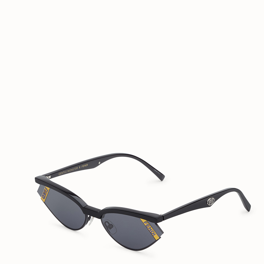 FENDI GENTLE Fendi No. 1 - Black sunglasses - view 2 detail