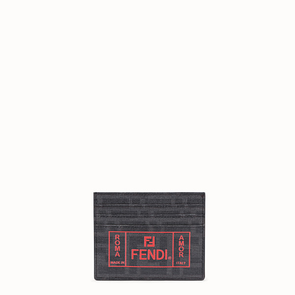 FENDI CARD HOLDER - Black fabric card holder - view 1 small thumbnail