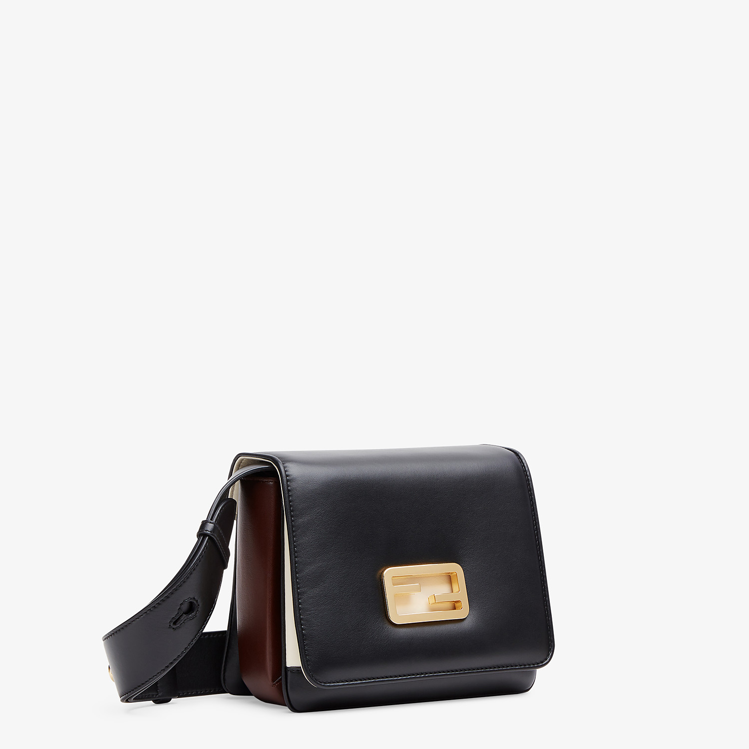 FENDI FENDI ID SMALL - Black leather bag - view 2 detail