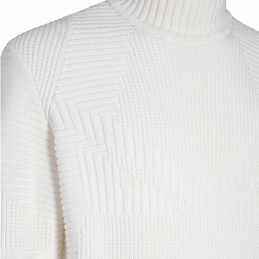 FENDI PULLOVER - White wool sweater - view 3 detail
