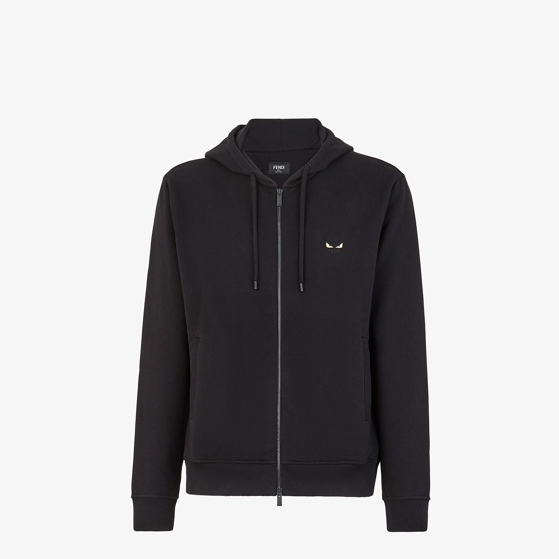 FENDI FELPA - Maglione in jersey nero - vista 1 dettaglio
