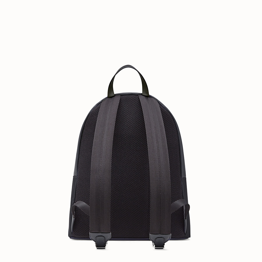 FENDI BACKPACK - Black leather and nylon backpack - view 3 detail