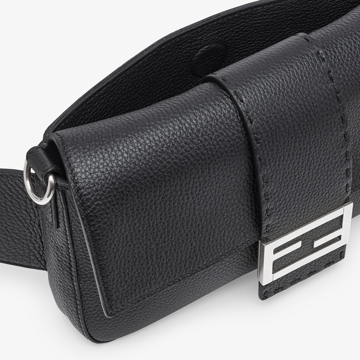 FENDI BAGUETTE - Black calf leather bag - view 6 detail