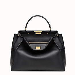 Black leather handbag - PEEKABOO LARGE   Fendi 660fde3894a