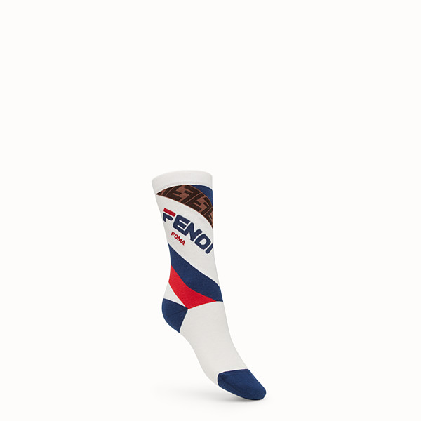 FENDI 襪子 - 白色毛圈襪 - view 1 小型縮圖