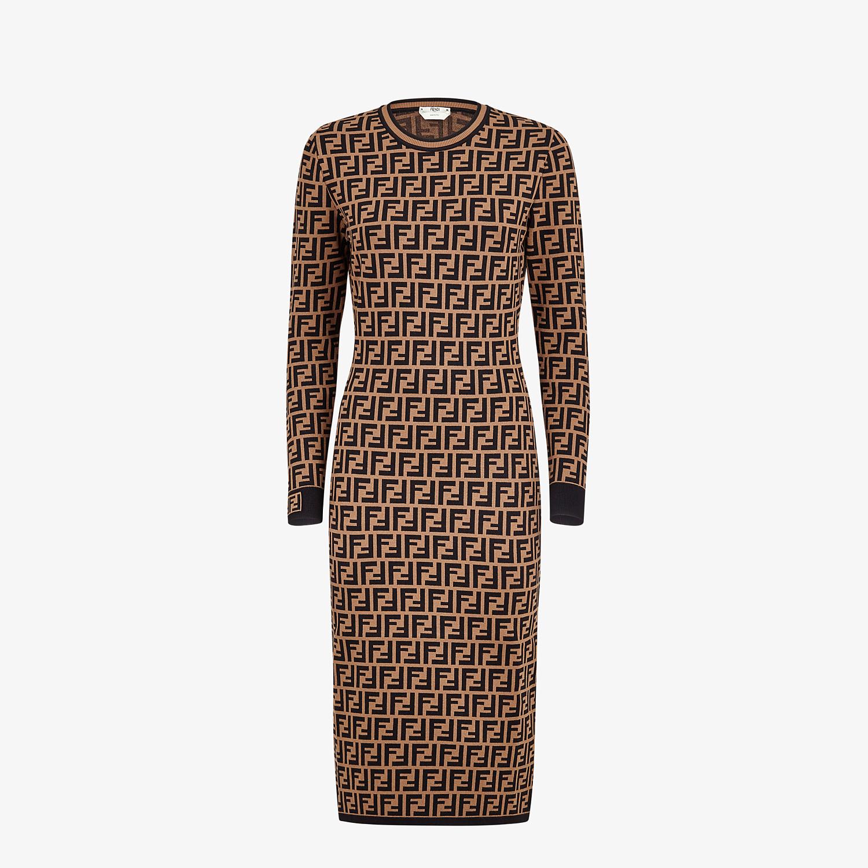 FENDI DRESS - Brown viscose dress - view 1 detail