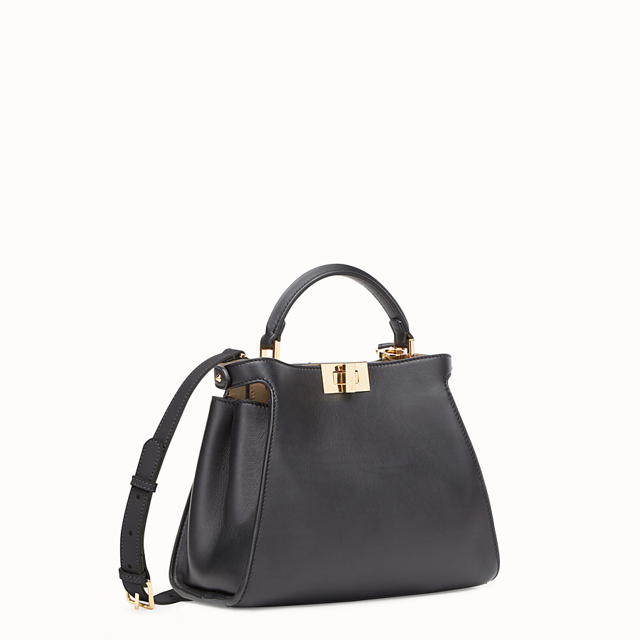 FENDI PEEKABOO ESSENTIALLY - Black leather bag - view 2 detail