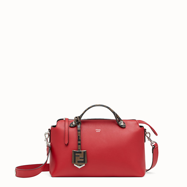 FENDI BY THE WAY REGULAR - Red leather Boston bag - view 1 small thumbnail