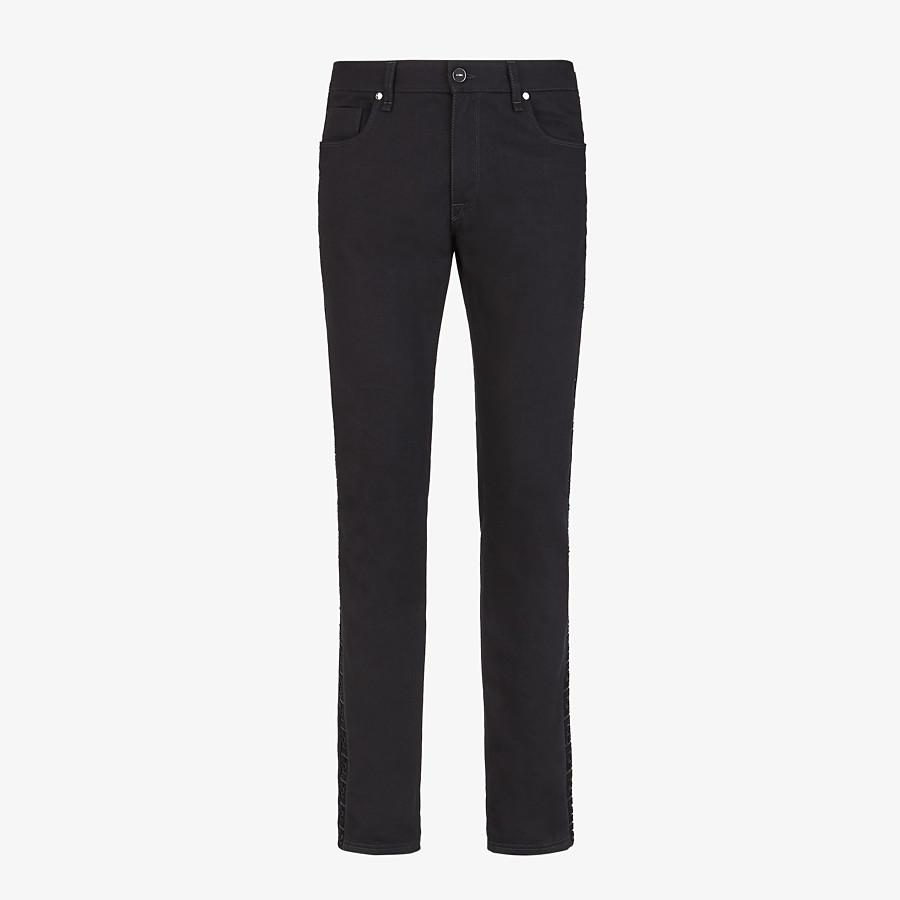 FENDI DENIM - Black denim jeans - view 1 detail