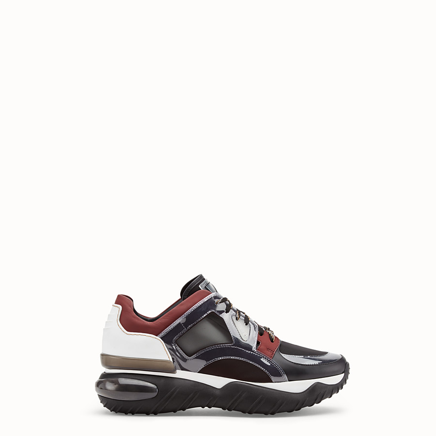FENDI SNEAKERS - Multicolour leather sneakers - view 1 detail