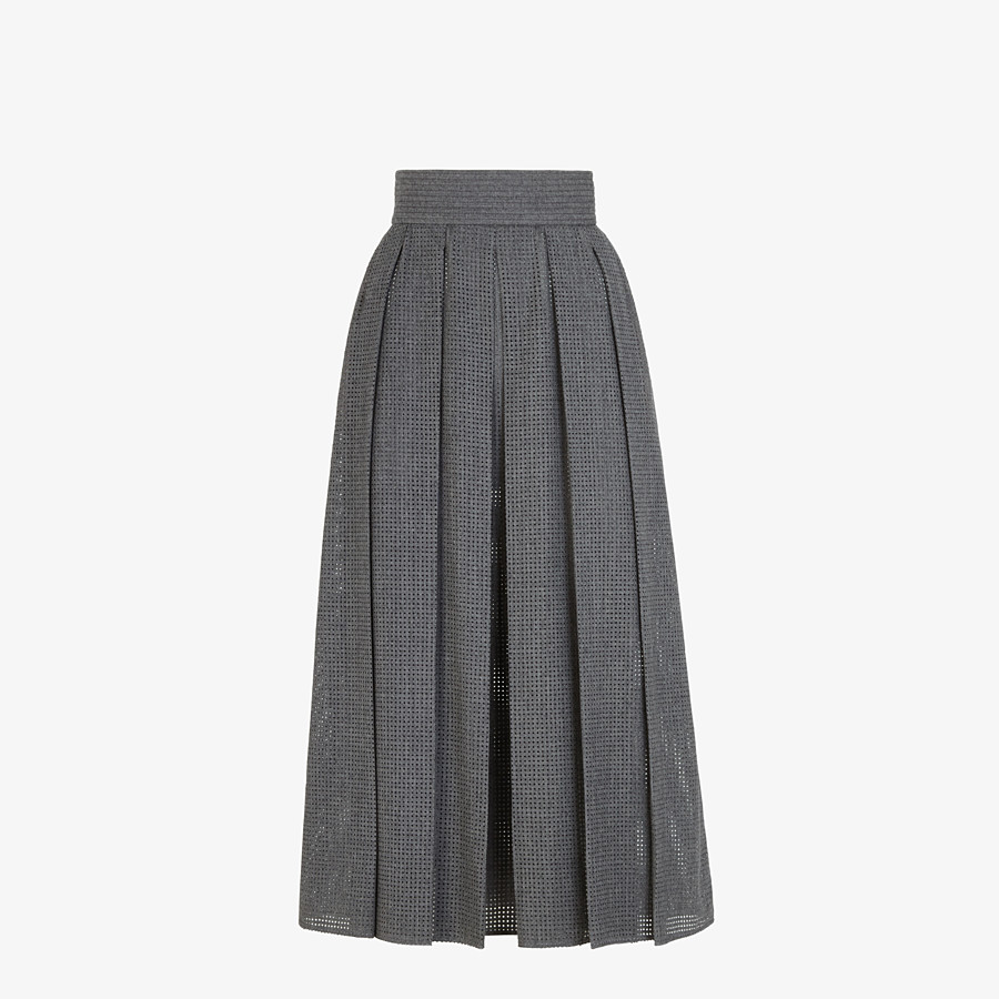 FENDI SKIRT - Grey flannel skirt - view 1 detail