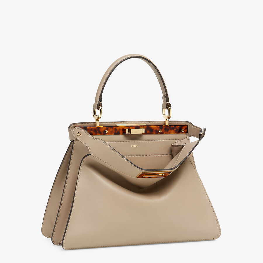 FENDI PEEKABOO ISEEU MEDIUM - gray leather bag - view 5 detail