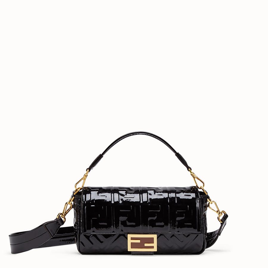 FENDI BAGUETTE - Black vinyl bag - view 1 detail