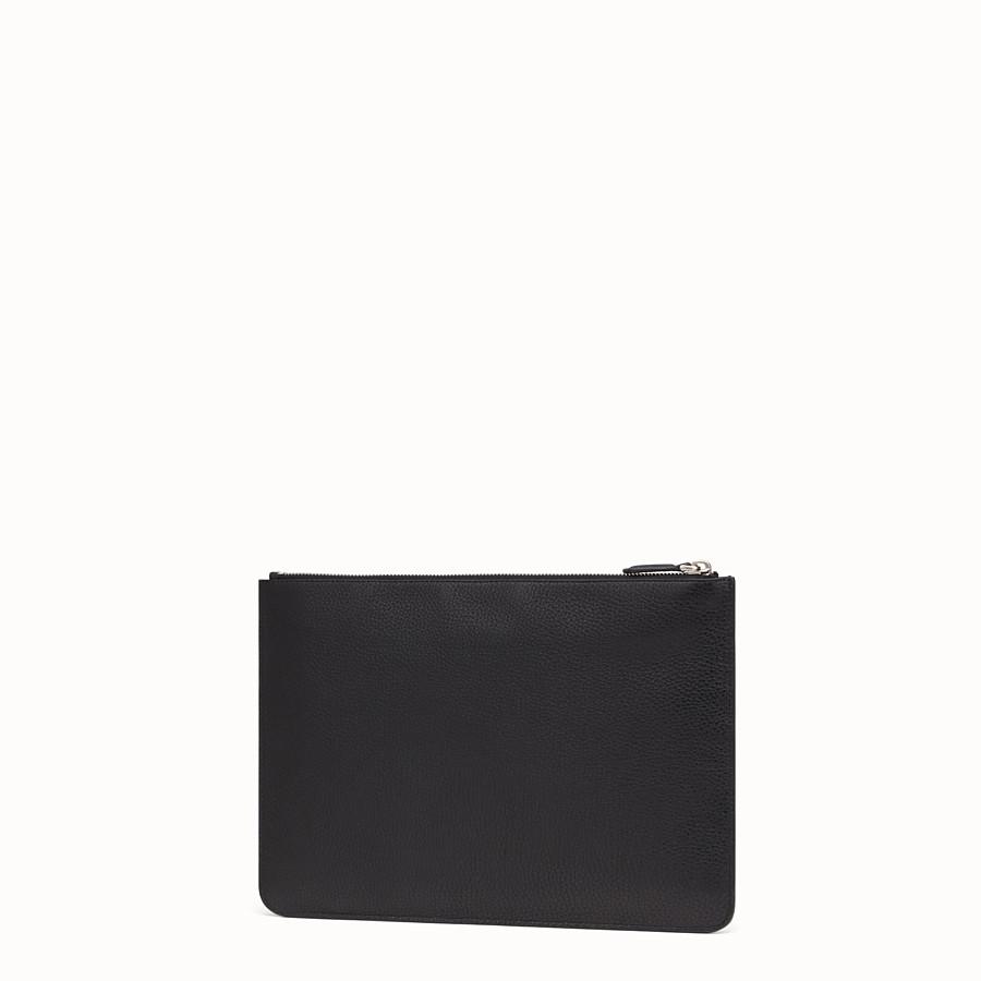 FENDI POUCH - 블랙 컬러의 가죽 셀러리아 파우치 - view 2 detail