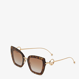 FENDI F IS FENDI - FF Havana acetate and metal sunglasses - view 2 thumbnail