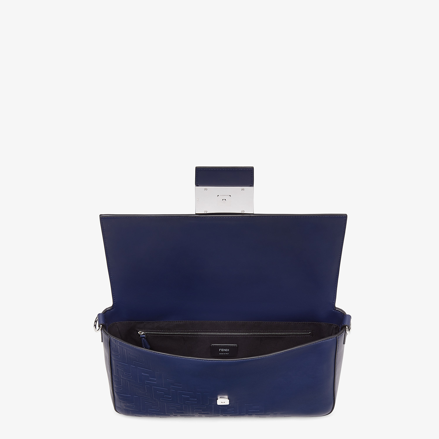 FENDI BAGUETTE LARGE - Blue calfskin bag - view 5 detail