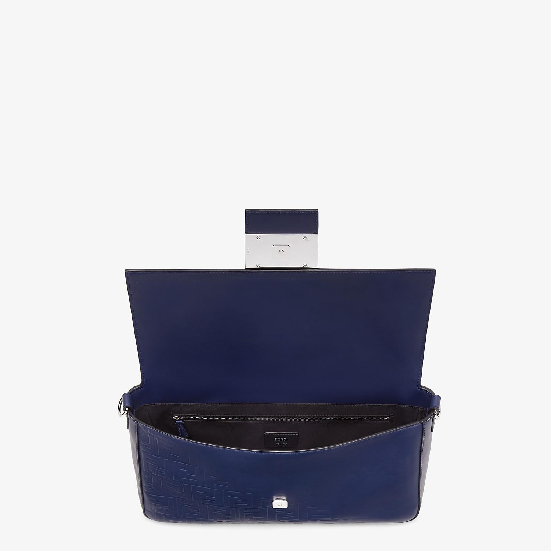 FENDI BAGUETTE LARGE - Blue calf leather bag - view 5 detail