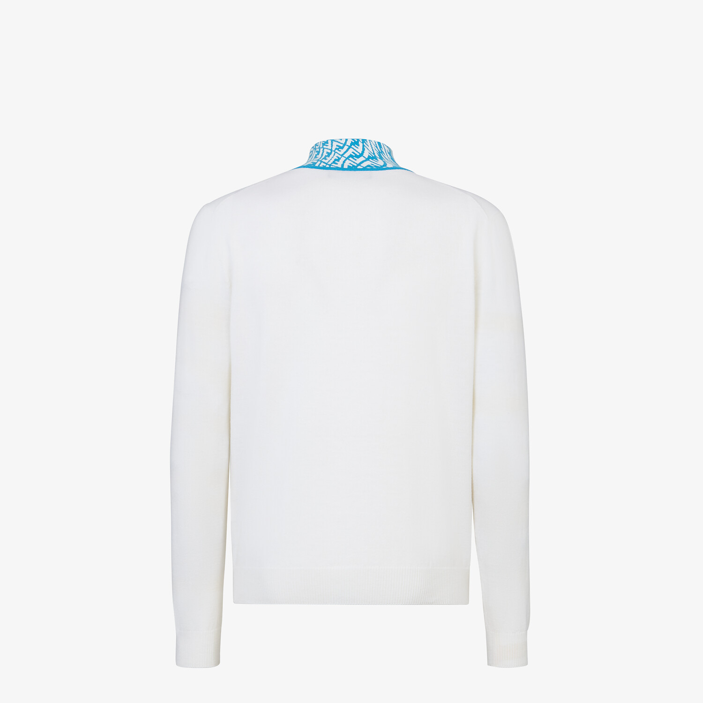 FENDI TURTLENECK - White wool jumper - view 2 detail