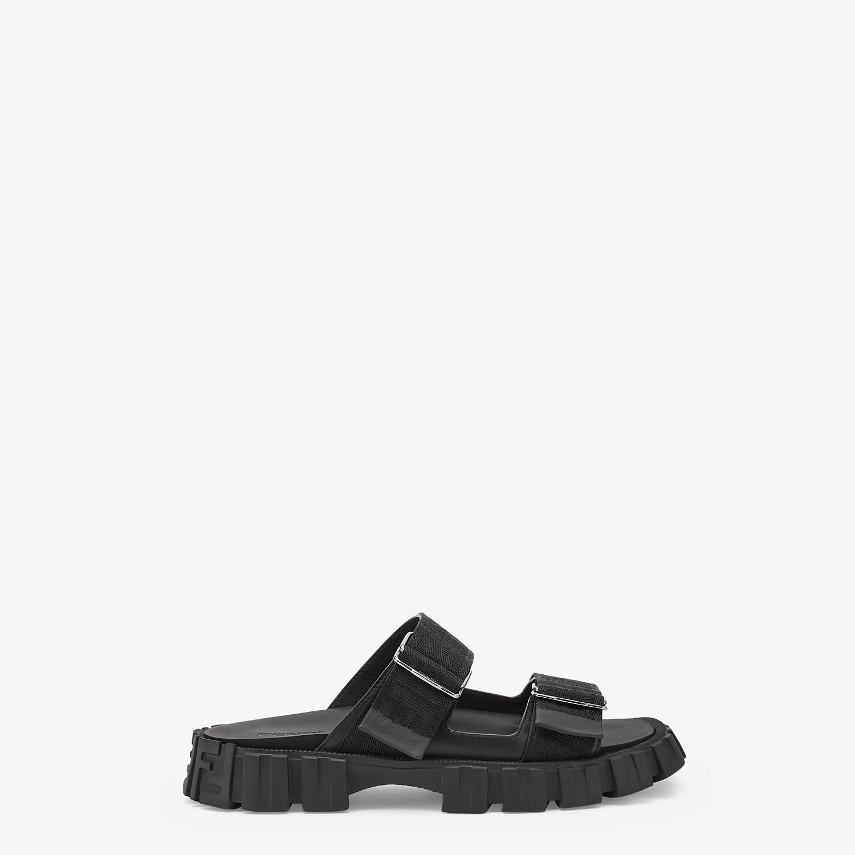 FENDI SANDALS - Black fabric sandals - view 1 detail