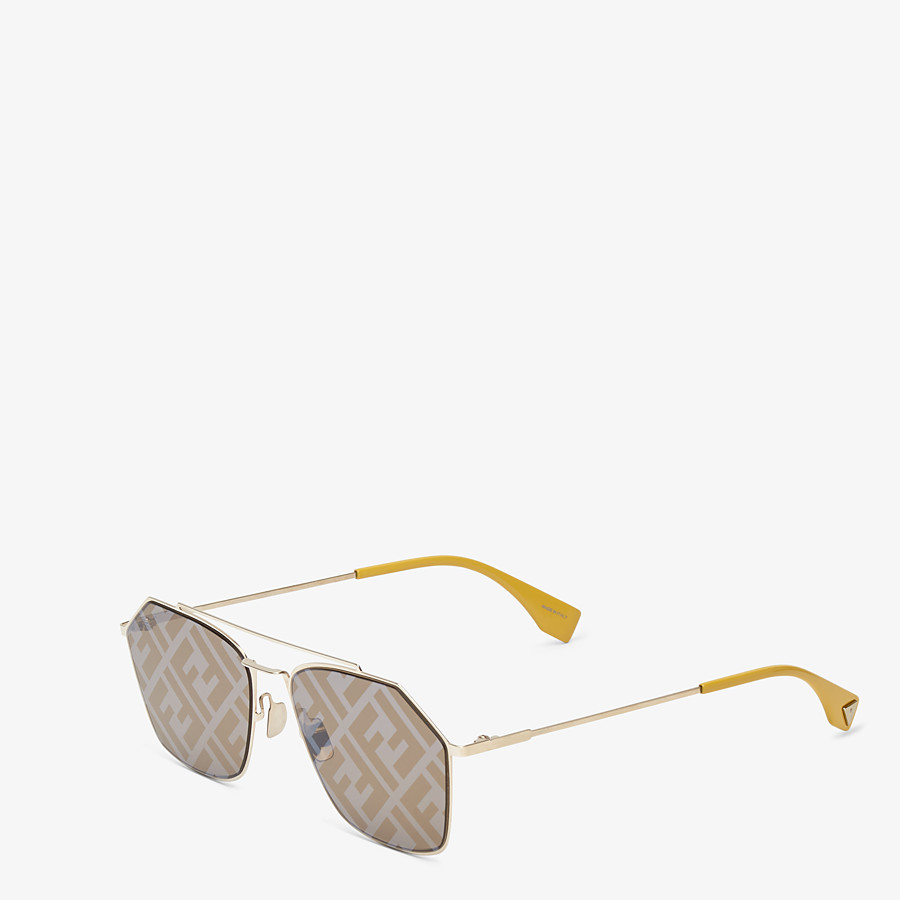 FENDI EYELINE - Yellow sunglasses - view 2 detail