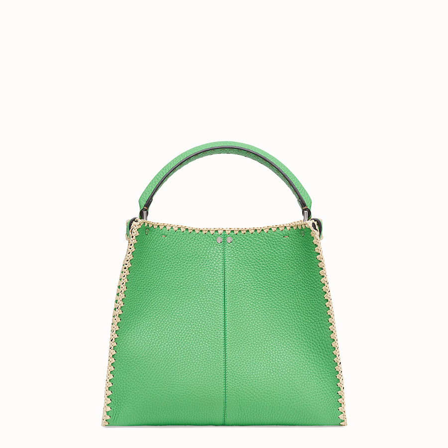 FENDI PEEKABOO X-LITE MEDIUM - Green leather bag - view 5 detail