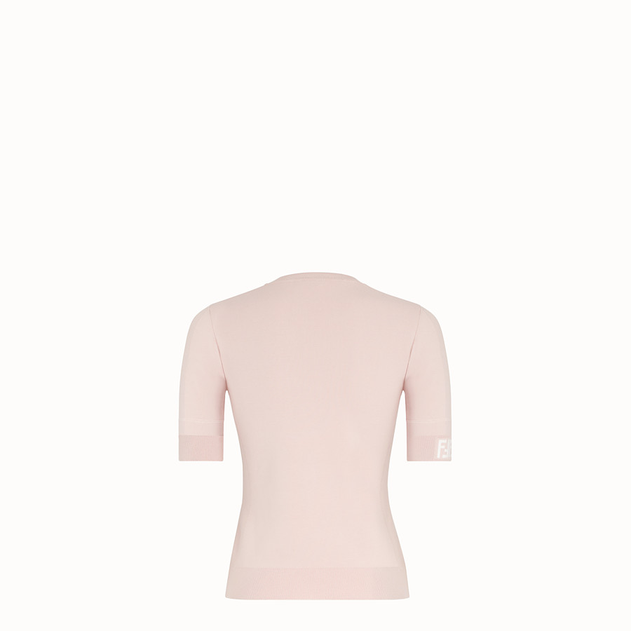 FENDI PULLOVER - Pink fabric jumper - view 2 detail