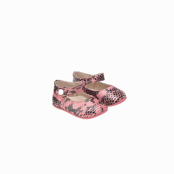 FENDI BALLERINA - in select pink and black leather - view 1 small thumbnail