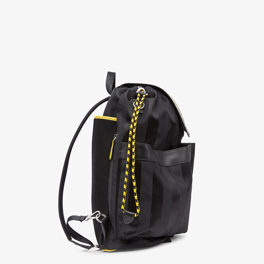 FENDI DRAWSTRING BACKPACK - Black nylon backpack - view 2 detail