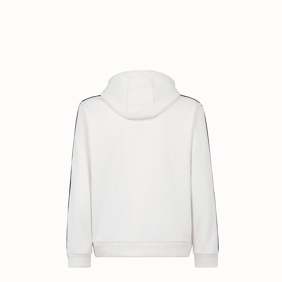 FENDI SWEATSHIRT - White cotton jersey sweatshirt. - view 2 detail