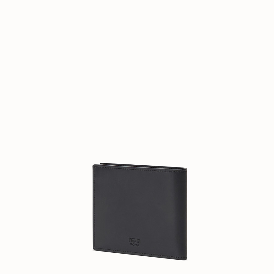 FENDI WALLET - Black leather and alligator bi-fold wallet - view 2 detail