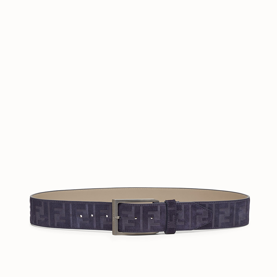 FENDI BELT - Blue leather belt - view 1 detail