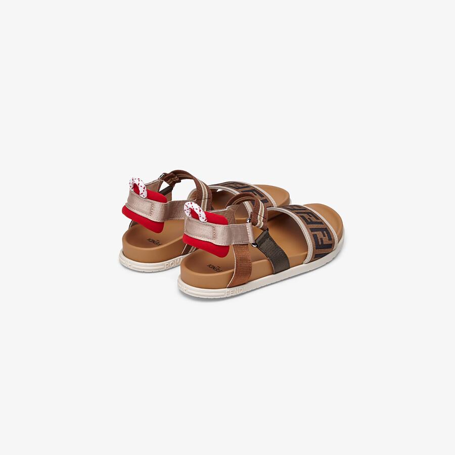 FENDI SANDALS - Fabric unisex junior sandals - view 3 detail