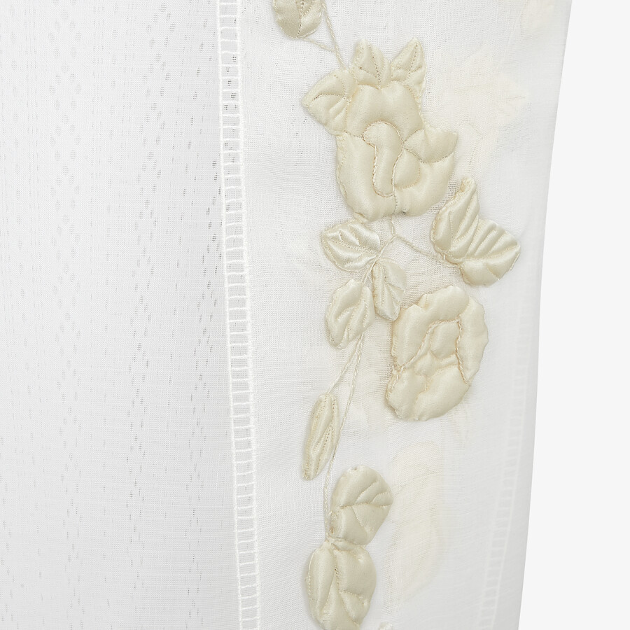 FENDI DRESS - White silk dress - view 3 detail