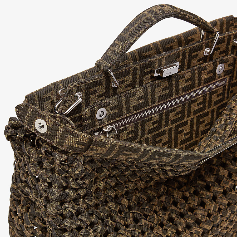 FENDI PEEKABOO ISEEU MEDIUM - Brown fabric bag - view 6 detail