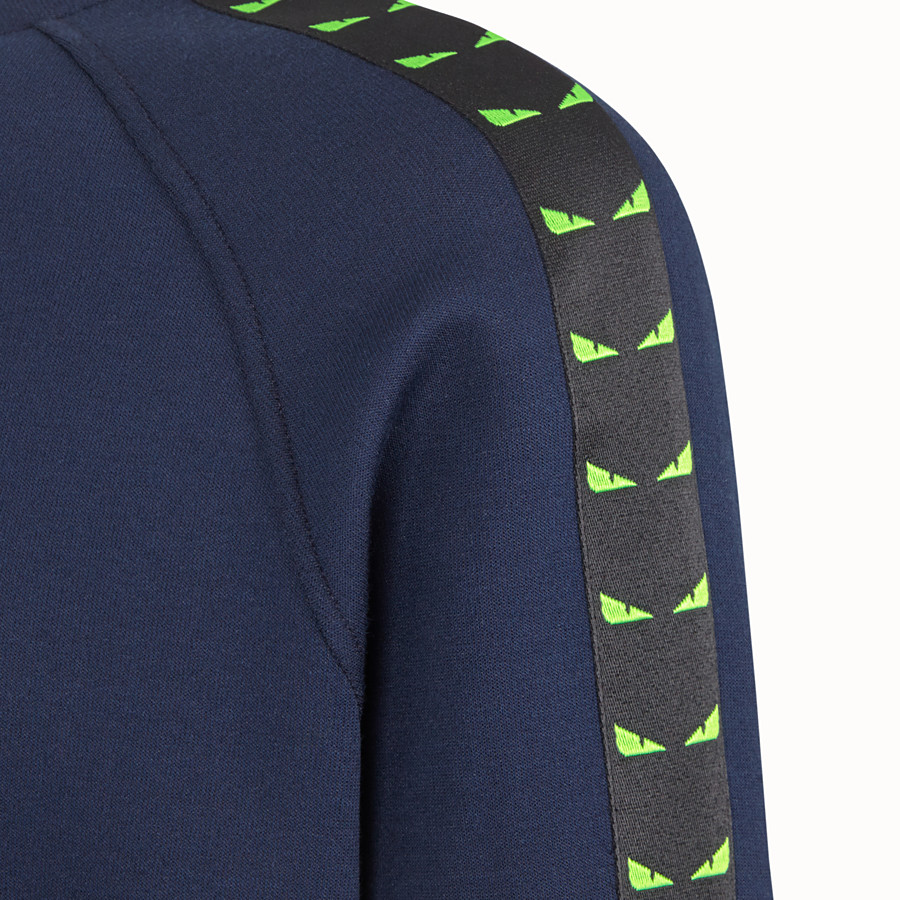 FENDI SWEATSHIRT - Blue cotton jersey sweatshirt - view 3 detail