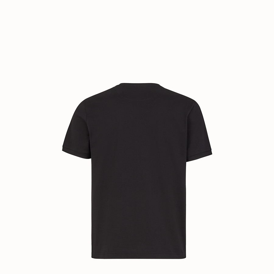 FENDI T-SHIRT - T-Shirt aus leichtem Jersey in Schwarz - view 2 detail