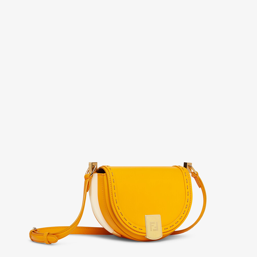 FENDI MOONLIGHT - Orange leather bag - view 3 detail
