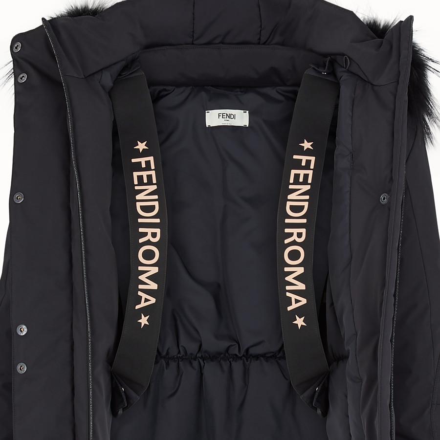 FENDI SKI JACKET - Black tech fabric down jacket - view 4 detail