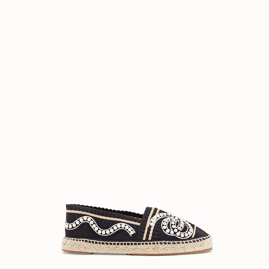 FENDI ESPADRILLES - Black yarn espadrilles - view 1 detail