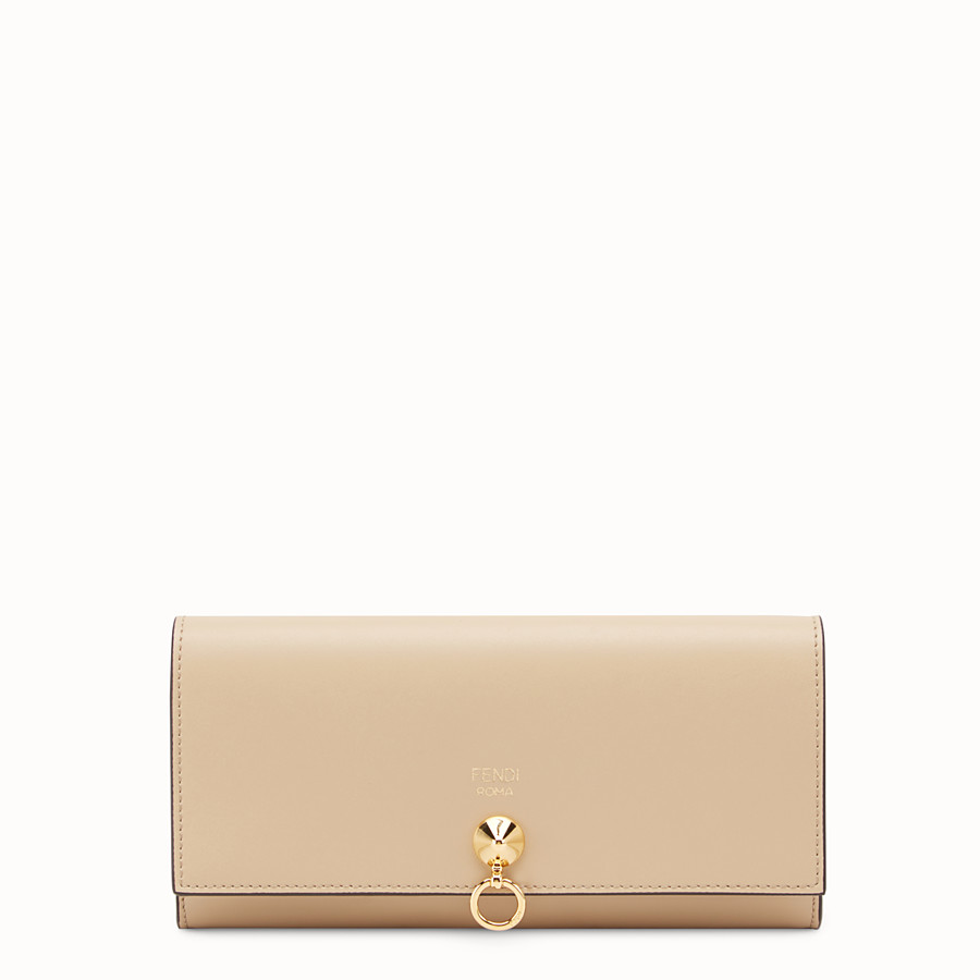 FENDI CONTINENTAL WITH CHAIN - Beige leather wallet - view 1 detail