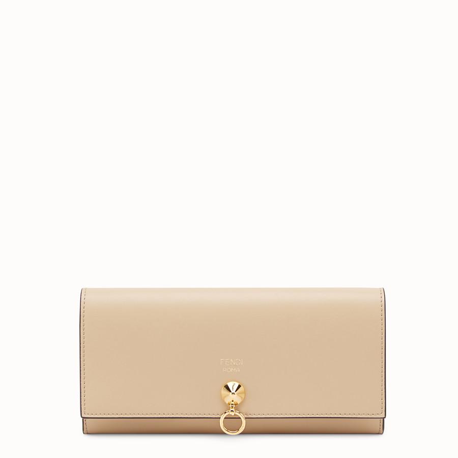 Portefeuille en cuir beige - PORTEFEUILLE CONTINENTAL À CHAÎNE   Fendi 73f4468a4d4