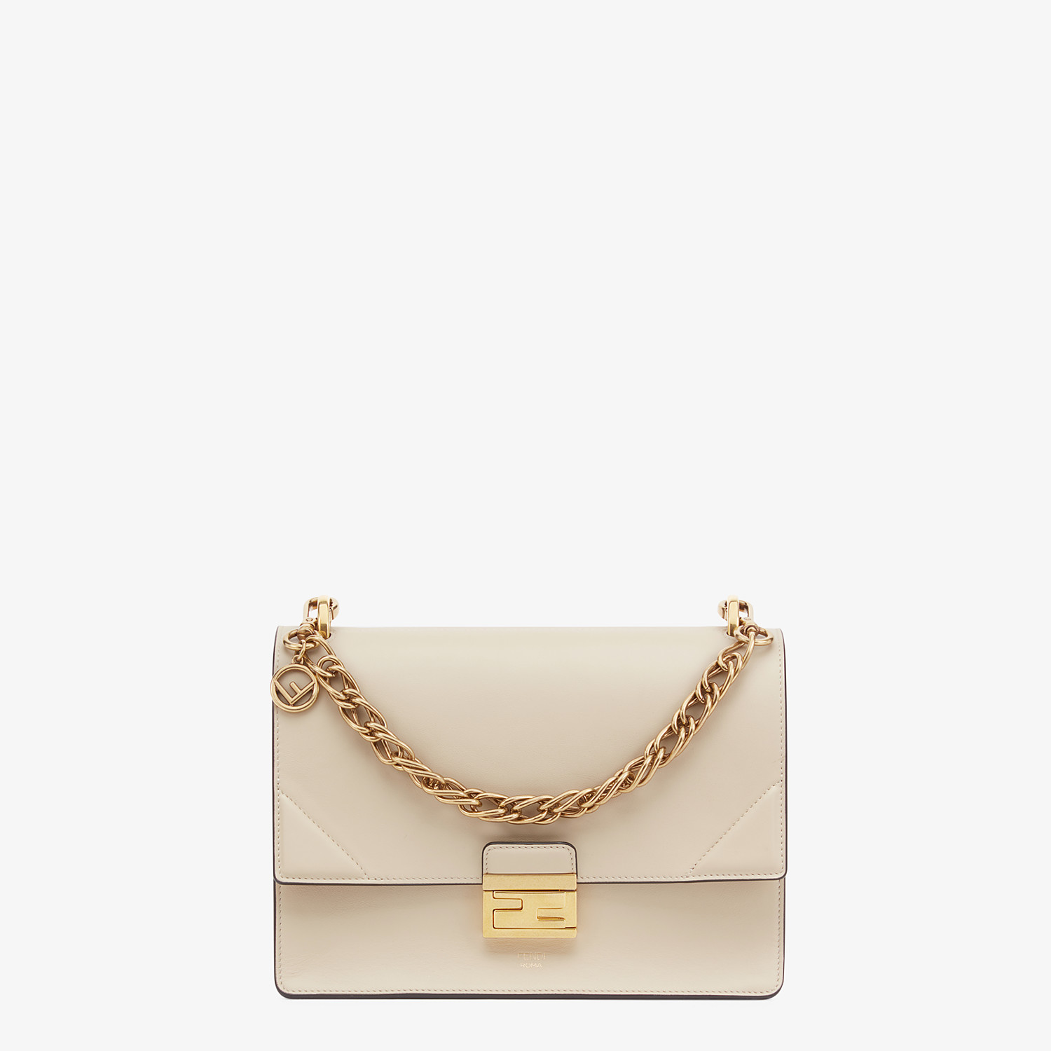 FENDI KAN U - Beige leather bag - view 1 detail