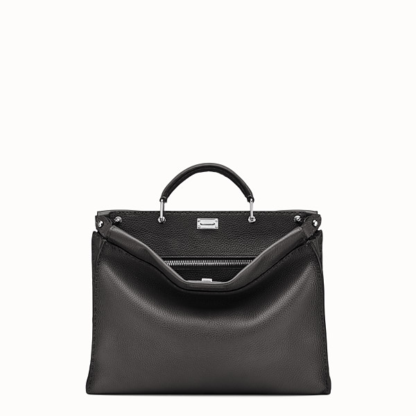 FENDI PEEKABOO ICONIC FIT - Black leather Selleria bag - view 1 small thumbnail