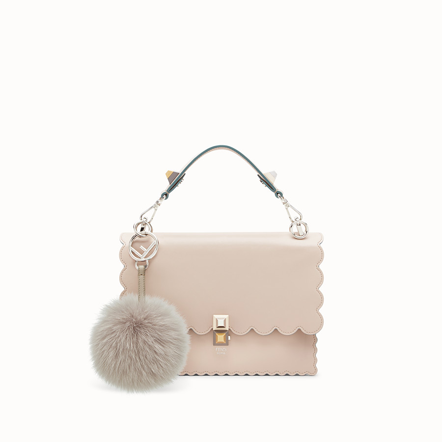 FENDI POM-POM CHARM - Charm in pearl-grey fur - view 2 detail