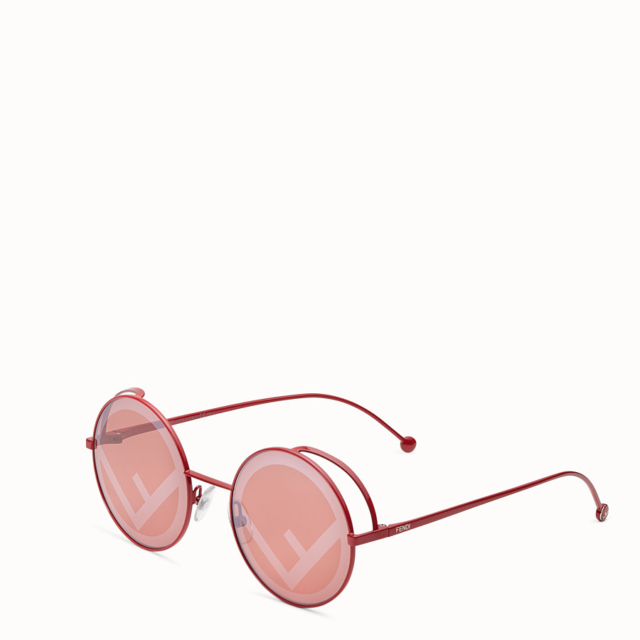 FENDI FENDIRAMA - Red sunglasses - view 2 detail
