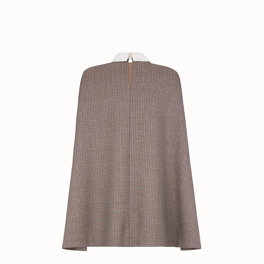 FENDI DRESS - Micro-check wool dress - view 2 detail