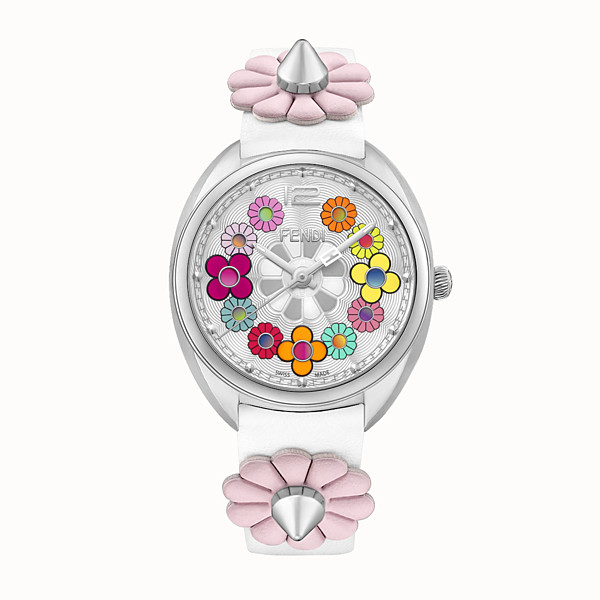 FENDI MOMENTO FENDI - 34 mm - Watch with flowers and strap - view 1 small thumbnail